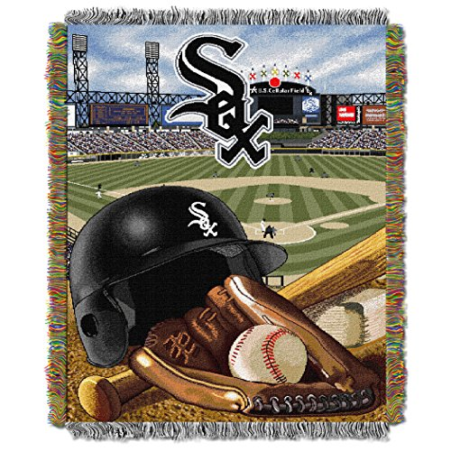 """MLB Chicago White Sox """"Home Field Advantage"""" Woven Tapestry Throw Blanket, 48"""" x 60"""""""