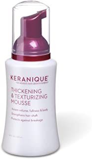 Keranique Thickening & Texturizing Mousse, 3.4 Fl Oz – Instant Volume, Thickness and Body, Leaving Hair with Smooth and So...