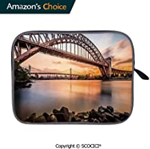 Sleeve Case Sleeve Bag Notebook Computer Bag Carrying CaseSunset Evening View Picture Hell Gate and Triboro Bridge Astoria Queens America Carrying Case