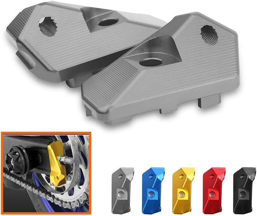 Black QIDIAN Rear Axle Spindle Chain Adjuster For Yamaha YZF R3 R25 2013 2014 2015 2016 2017 2018 MT03 25