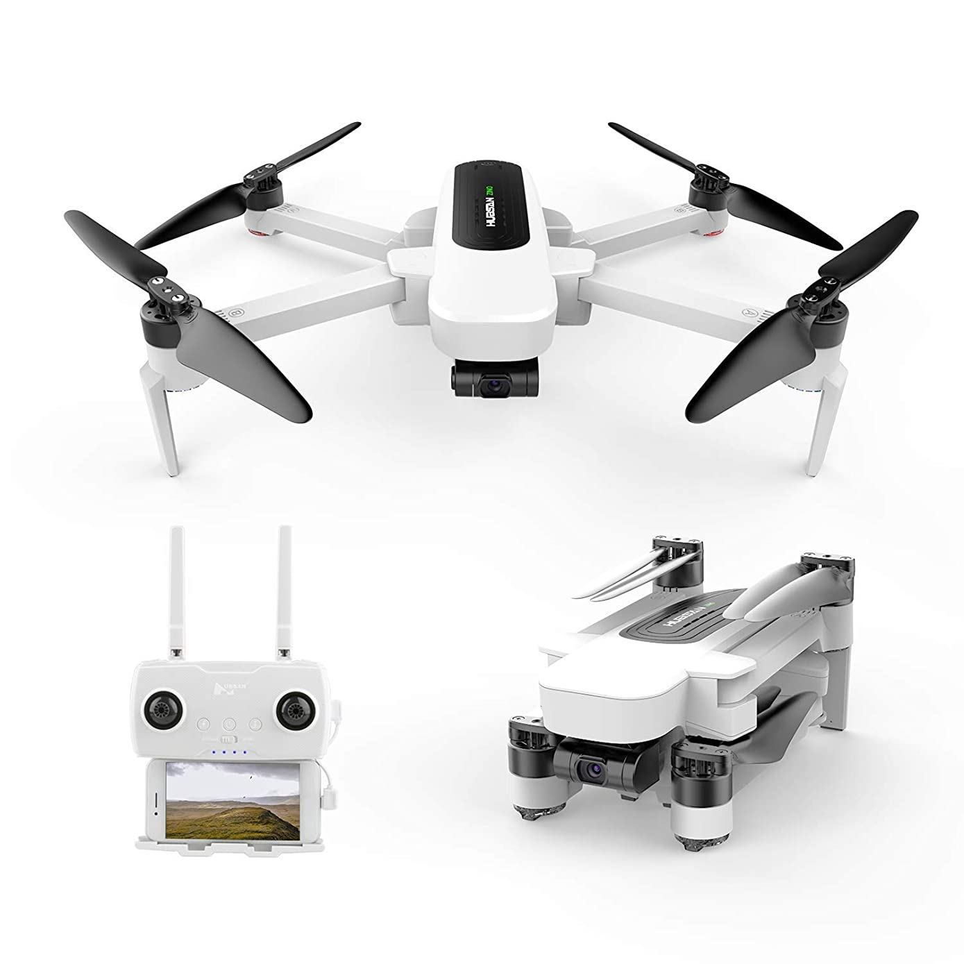 Hubsan Zino Drone Foldable Quadcopter 4K UHD Video Camera 3-axis(Yaw,Picth,Roll) Brushless Motor with GPS 5.8G WiFi FPV