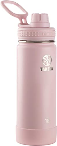 Takeya Actives Insulated Stainless Steel Water Bottle with Spout Lid, 18 oz, Blush product image