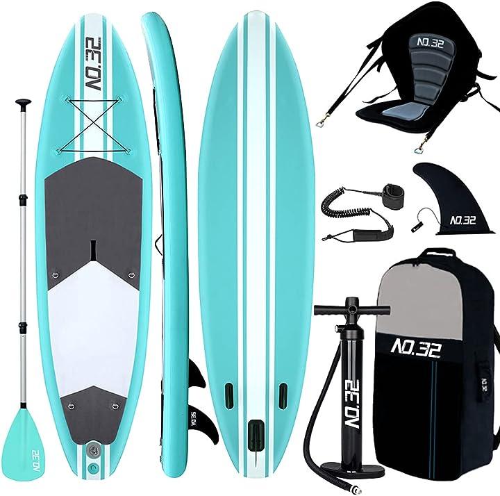 Tavola da sup stand up paddle board gonfiabile 10`(300x76x15cm-di spessore) + pagaia regolabile B07Z5TBZ92