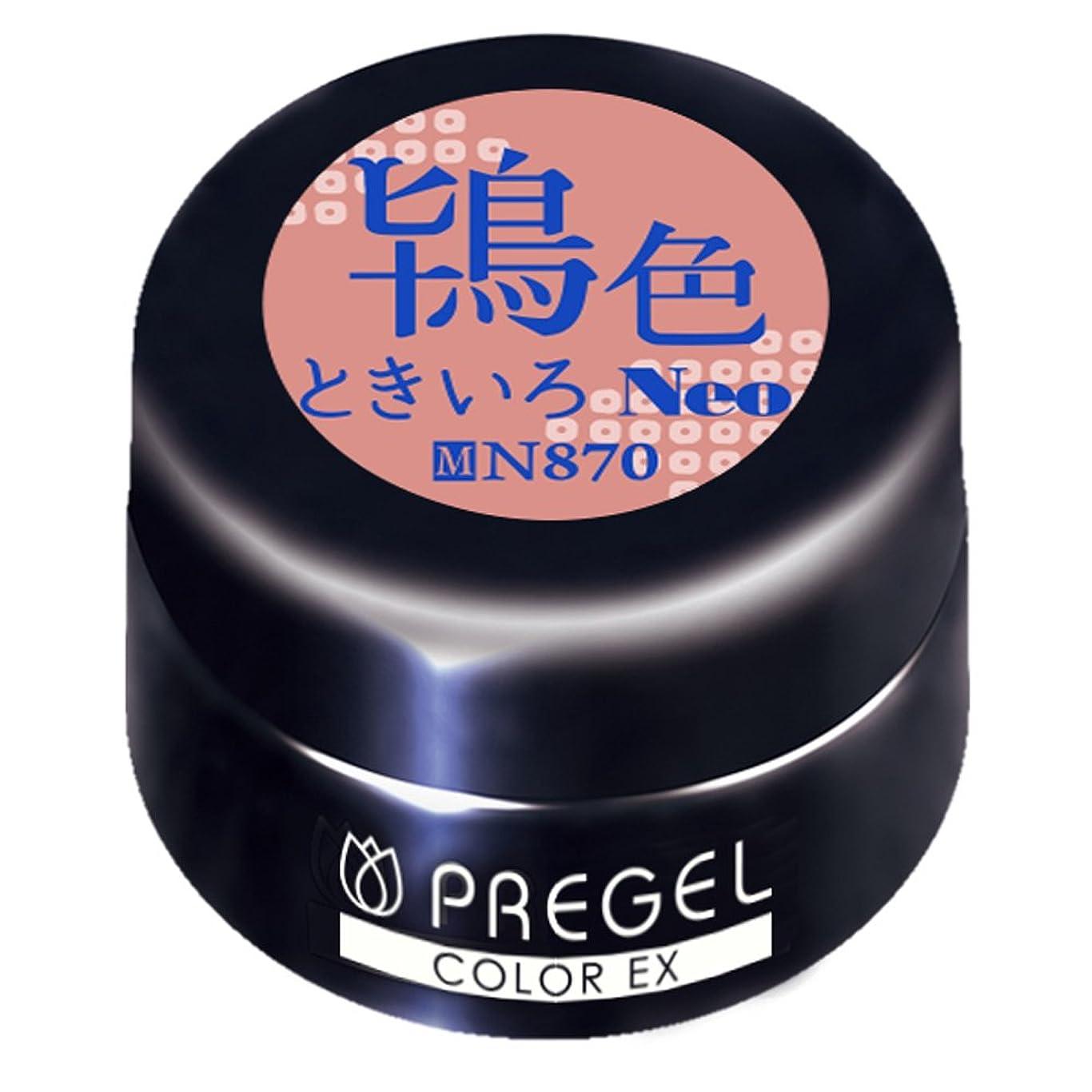 バリー流用する習熟度PRE GELカラーEX 鴇色(ときいろ)neo 3g PG-CEN870