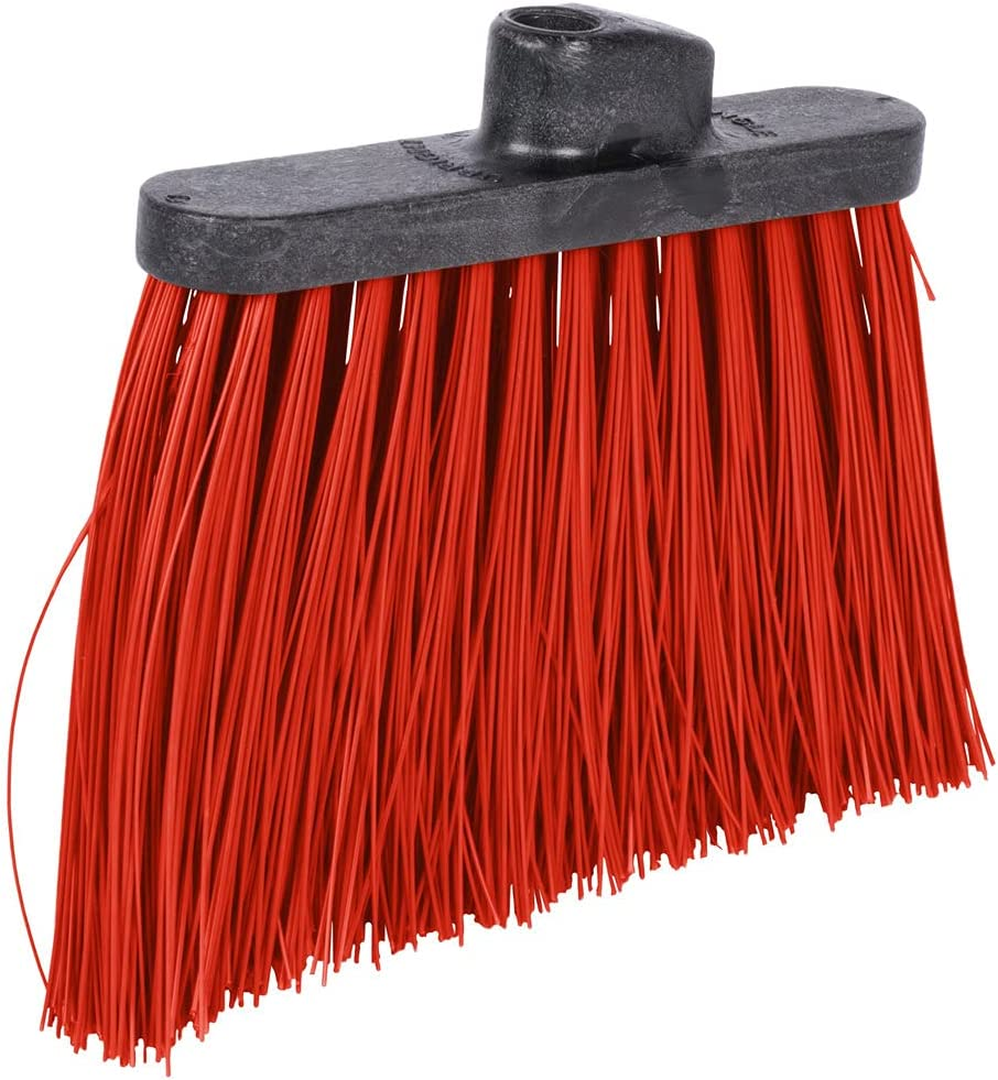 5 Bundle Duo-Sweep 12Inch Heavy Duty online shopping Head with Broom Manufacturer OFFicial shop Red Angled