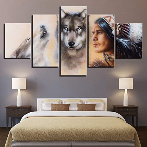 nueva gama alta exclusiva YHEGV Impresiones En Lienzo Lienzo Lienzo Lienzo HD Imprime Poster Wall Art Cuadros Modulares 5 Unidades Pinturas Salón Decoración del Hogar Marco  100% precio garantizado