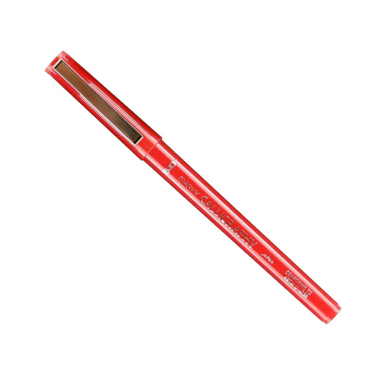 Uchida Of America 6000B-C-2 Calligraphy Marker, 5.0mm, Red