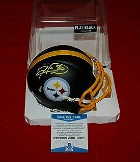 Hines Ward Signed Mini Helmet - flat black BECKETT witnessed - Beckett Authentication - Autographed NFL Mini Helmets