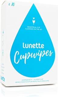 Lunette Cup Portable Disinfecting Wipes, 10 Count
