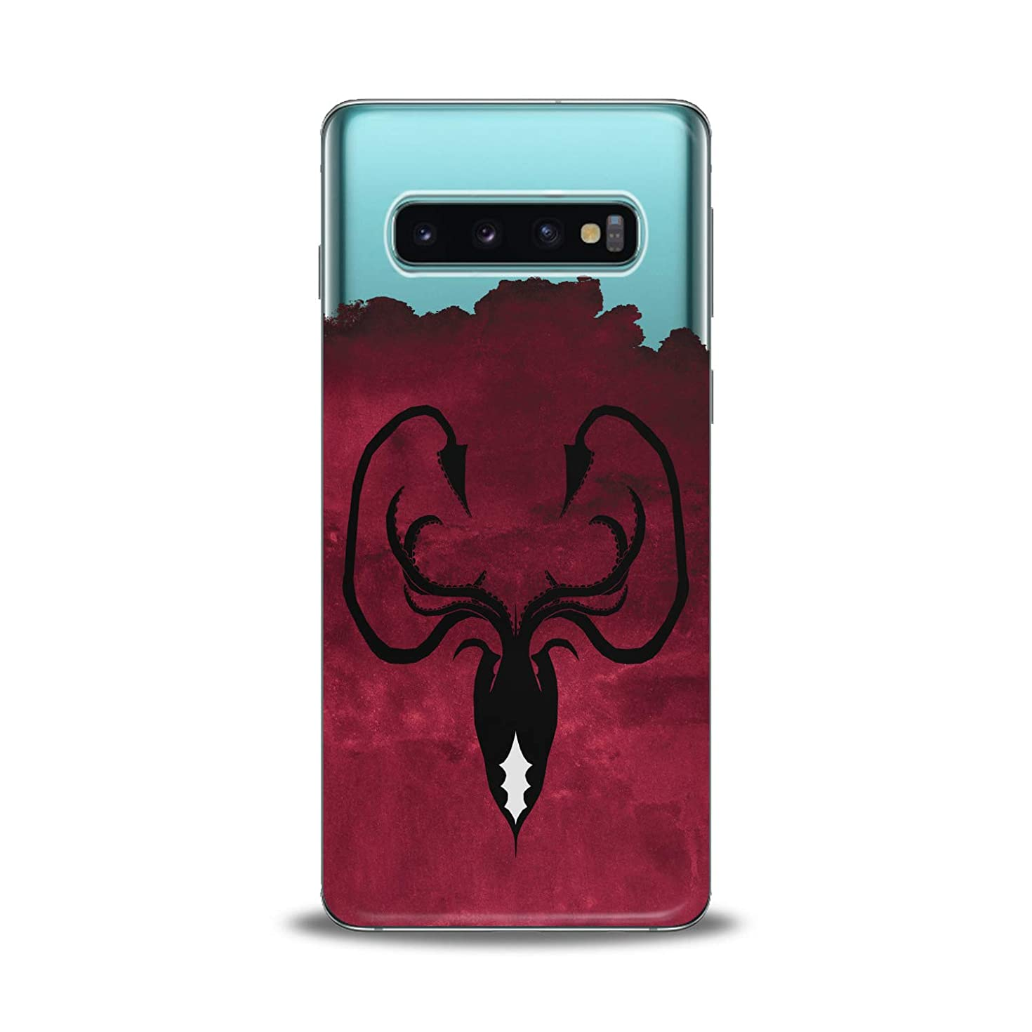 Lex Altern TPU Case for Samsung Galaxy s10 5G Plus 10e Note 9 s9 s8 s7 Greyjoy Flexible Octopus Symbol Gift Smooth Black Print Slim fit Game of Thrones Cover Soft Clear Red Design Kingdoms Lightweight