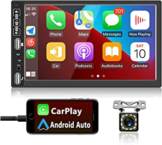 $88 » Sponsored Ad - Car Stereo Compatible with Apple Carplay and Android Auto 7 Inch Double Din Bluetooth Car Radio Audio Recei...