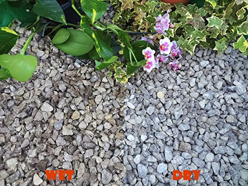 Einstreu Kies Stein Schiefer Körpernähe Unkraut Garten Terrasse Weg Pflanze Topping–Dove Grau peakstone (10–20mm), 30 kg