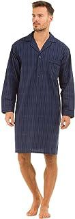 Haigman Nightwear Mens Lightweight Poplin 100% Cotton 7391 Nightshirt