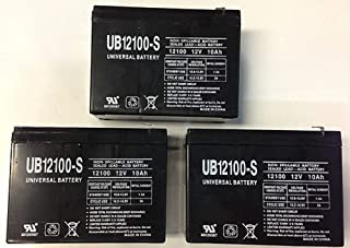 Universal Power Group 12V 10AH Currie eZip Direct Drive 1000DD, 1000 DD Electric Scooter Battery - 3 Pack