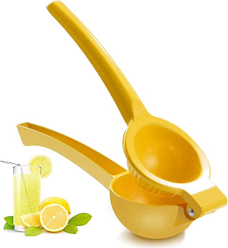 ZEYUAN Manual Juicer Citrus Lemon Squeezer Fruit Juicer Lime Press Metal Professional Hand Juicer Kitchen Tool Yellow