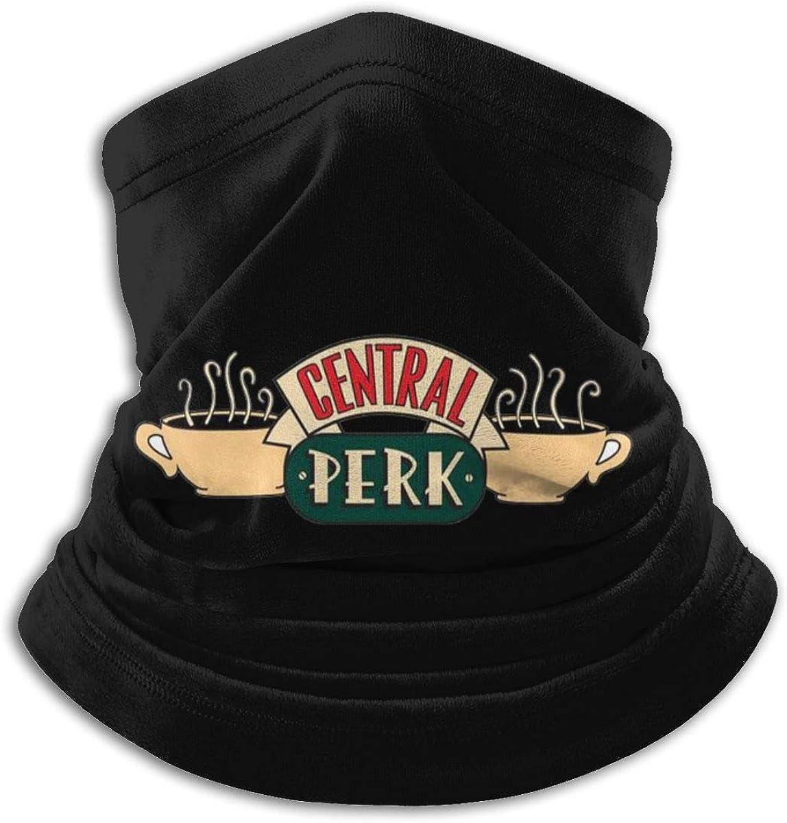 Central Perk Black Multi-function Neck Warmer Gaiter Polyester Neck Warmer Windproof Winter Neck Gaiter Cold Weather Scarf For Men Women