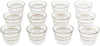 Luminarc DL4385 Tempered Glass Kawa Zari Cup - 12 Pieces,Clear