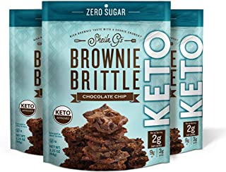 Sheila G's Brownie Brittle Keto Chocolate Chip-No Added Sugar, Ketogenic Diets, Diabetic, Diet Foods, Sweets & Treats Dess...