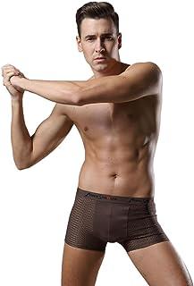 Enerhu Mesh Boxer Briefs Breathable Modal Trunks Comfortable Men Underwear