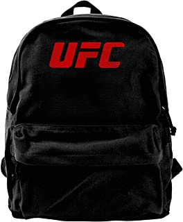 Mochila de lona con logo UFC, mochila de gimnasio, senderismo, portátil, bolsa de hombro para hombres y mujeres