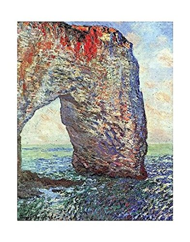 """Eliteart-Boats on The Beach at Etretat by Claude Monet Giclee Art Canvas Prints-Framed Size:28"""""""