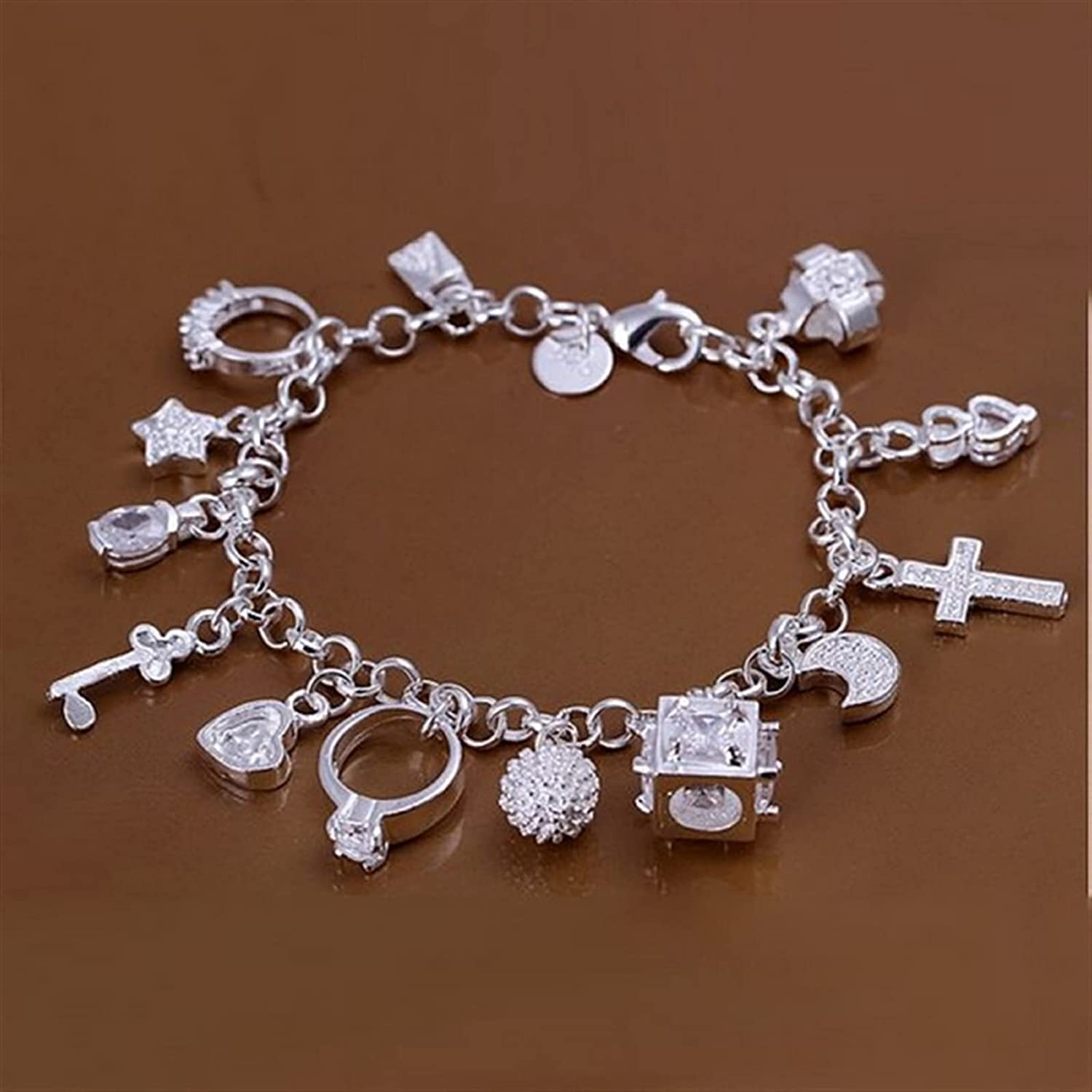 JIANCHEN Charm Sterling Silver Jewelry Cute Max 80% OFF Fashion Wo Bracelets Outlet sale feature