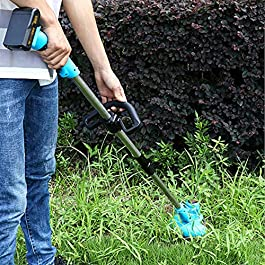 HKX Tondeuse à Gazon sans Fil sans balais à Batterie Li-ION 2 pièces, Tondeuse à Gazon électrique à poignée télescopique…