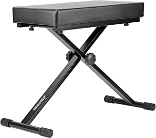 Neewer® Detachable Padded Keyboard Bench with X-style Iron Legs, 4-Position Height Adjustable (21.6