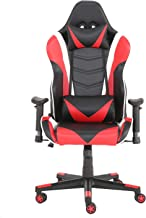 YJCFurniture Gaming Chair Racing Office Computer Game Chair Ergonomic Backrest and Seat Height Adjustment Recliner Swivel ...