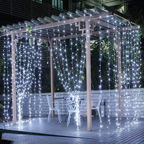 CITRA 240 LED 9.8Feet Curtain Lights Icicle Lights Fairy String Lights with 8 Modes for Wedding...