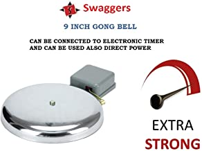 SWAGGERS 225 mm Metal Strong Electric Gong Bell Industrial School College Factory Bell- 9 Inch