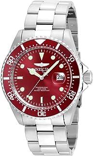 Invicta 22048 Reloj Análogo para Hombre, color Rojo y Plata