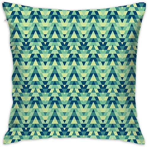 balaclava Home Decor Throw Kissen Kissenbezug, Abstract Zickzack Chevron Triangles Ethnic Boho Kreatives Design,...