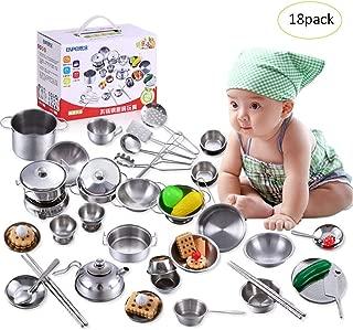 Ogquaton Kinder Spielen Spielzeug K/üche Kochgeschirr Pfannen T/öpfe Geschirr Kochgeschirr Zubeh/ör Kreativ und n/ützlich