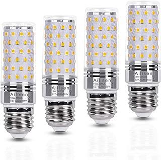 Bombilla E27 led Maíz bombillas luz Blanco Cálido 16W Equivalentes Incandescente Bombillas 120W, 1650LM 3000K Candelabro led Lampara de Ángulo 360° Edison tornillo bombillas - Pack de 4