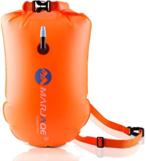 20L Waterproof Dry Bag, Ultralight Swim Buoy and Safety Float for Open Water Triathletes, Kayak, Snorkeling,Surfers, Beach, Swimming, Boating with Adjustable Waist Belt