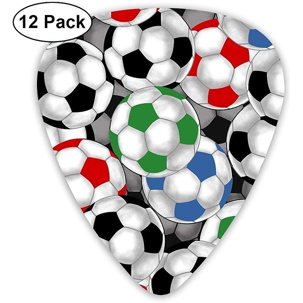 Balones de fútbol 12 piezas Púas de guitarra Rock Band Mix Púas de guitarra Accesorios musicales: Amazon.es: Instrumentos musicales