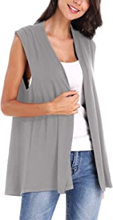 Urban CoCo Women's Sleeveless Open Front Cardigan Vest Coat