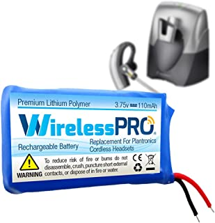 Wireless Pro TY230-01LD Premium Replacement Rechargeable Battery for Plantronics CS70 CS70N Avaya AWH75N Headset Replaces Plantronics Battery 66278-01