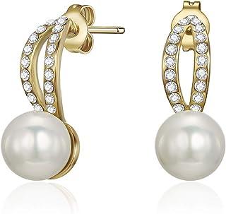 Mestige Zinnia Women's Drop & Dangle Earrings with Swarovski Crystals - MSER3384