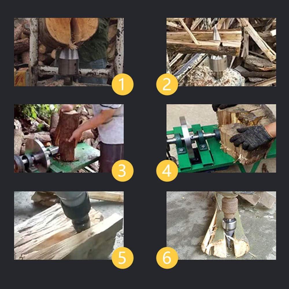 Quadratischer Griff panthem Holzspalter Schraube Kegel Schaft 32mm Holzbohrer Holzspaltkeil Spiralbohrer Holzbohrer Spaltkeil Schraube Kegel Kaminholzbohrer Kegelspalter f/ür den Haushalt
