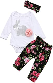 Tianhaik Infant Baby Girl Sunflower Little Miss Sassy Pant Outfits Short Sleeve Romper Headband