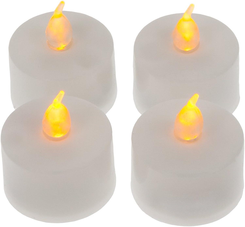 Smartfox 96x LED Teelicht Teelichter flammenlose flammenlose flammenlose elektrische Kerzen mit Batterie B017D581GY be3822