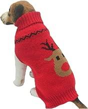 Farjing Dog Clothes,Pet Winter Woolen Sweater Knitwear Puppy Clothing Warm Deer Head High Collar Coat
