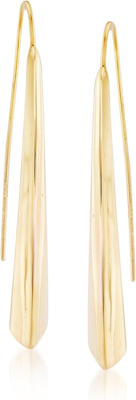 Ross-Simons Italian 18kt Yellow Gold Elongated Drop Earrings