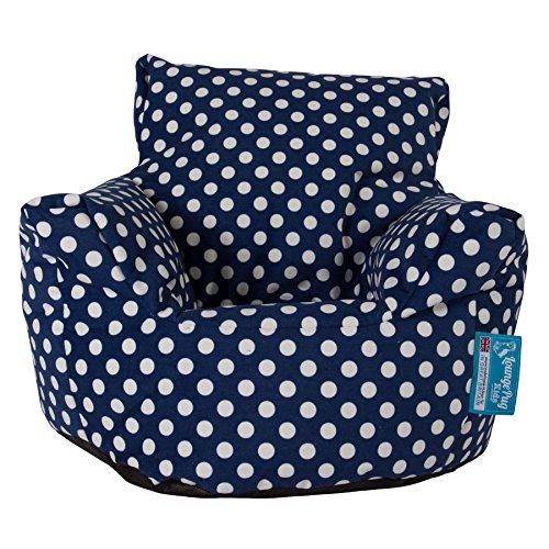 Lounge Pug, Kindersessel Sitzsack, Sitzsack Kinder, Druck Blau Getupft