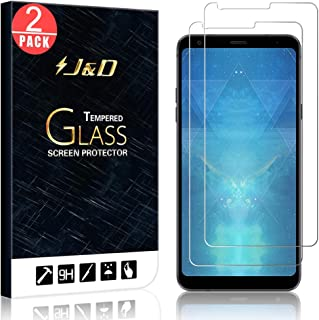 J&D Compatible for 2-Pack LG Q Stylus/LG Q Stylus Plus/LG Q Stylus Alpha Glass Screen Protector, [Tempered Glass] [Not Full Coverage] Ballistic Glass Screen Protector for LG Q Stylus Screen Protector