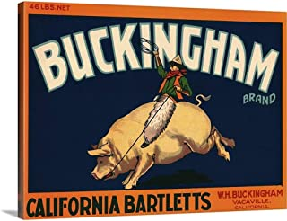 GREATBIGCANVAS Gallery-Wrapped Canvas Bucking Ham by 24