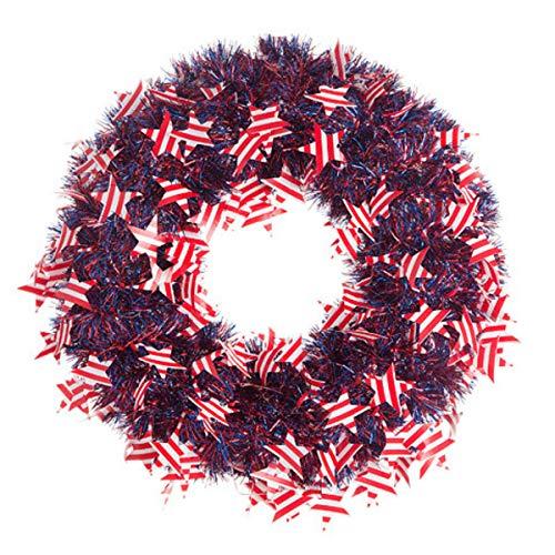 Darice Patriotische Kranz American Flaggen Lametta 50,8cm