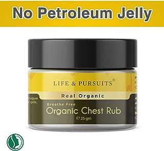 Life & Pursuits Organic Baby Chest Rub (25 gm/0.88 oz) With Ayurvedic Baby Vapor Rub Formula | Petroleum Free | With Eucalyptus, Peppermint, Holy Basil Oil